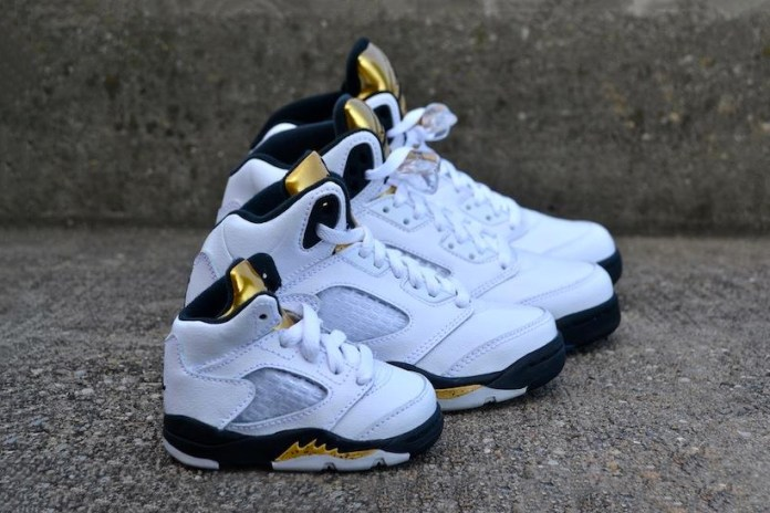 "The Air Jordan 5 ""Gold"" Is a Family Affair"