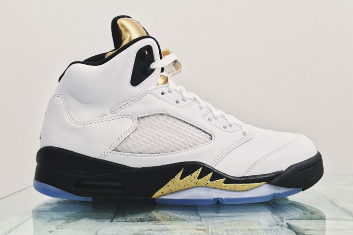 "The Air Jordan 5 Gets a ""Gold Tongue"""
