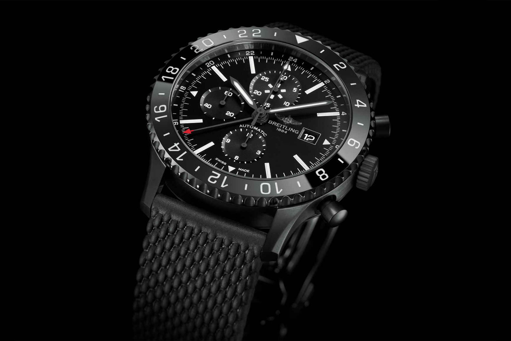 Breitling's Chronoliner Gets the Blacksteel Treatment