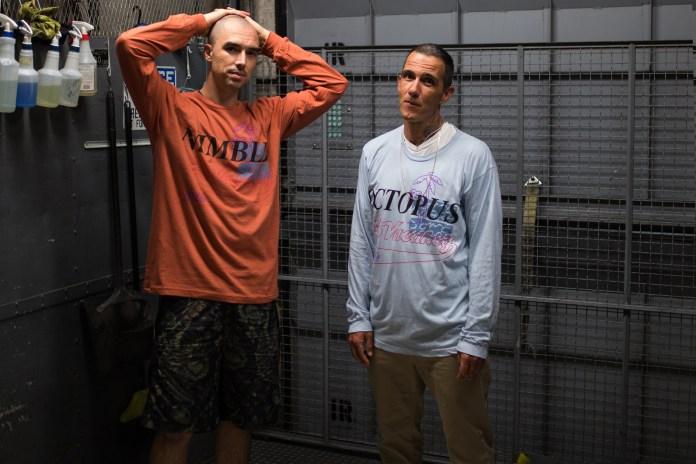 Cali Thornhill DeWitt and Brendan Fowler Model Some Ware x No Vacancy Inn Tee