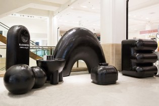 """COMME Des GARÇONS' """"Black Pepper"""" Installation Is a Collection of Murdered-Out Abstract Sculptures"""