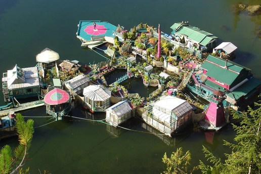 Couple Spends 24 Years Building a Self-Sustaining, Floating Island to Live off the Grid