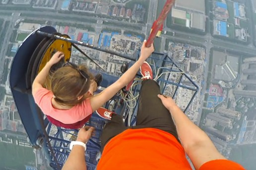This Fearless Couple Climbs the Highest Construction Site in the World