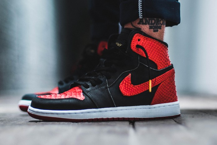 "Get Your Hands on a Pair of Exotic Custom-Made ""Banned"" Air Jordan 1s"