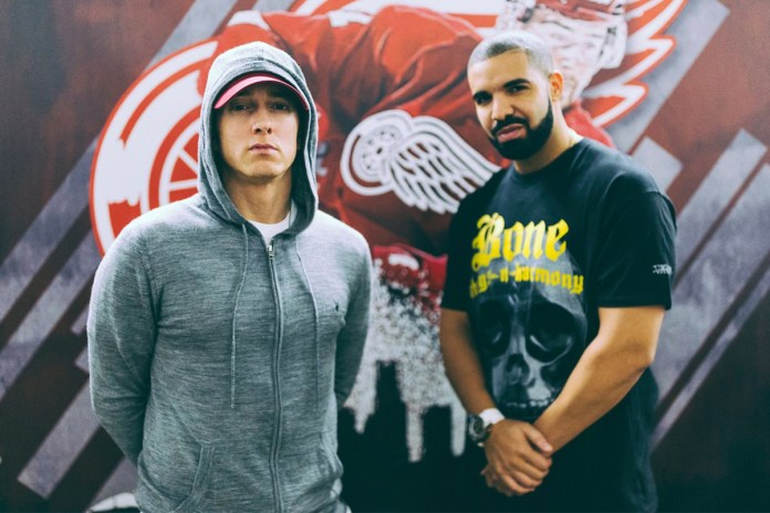 "Watch Drake Bring out ""The Greatest Rapper"" Eminem on Stage"