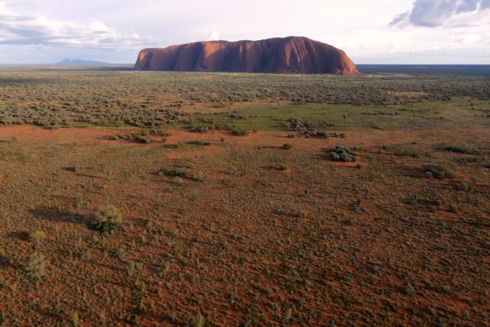 A Drone's-Eye View of Uluru