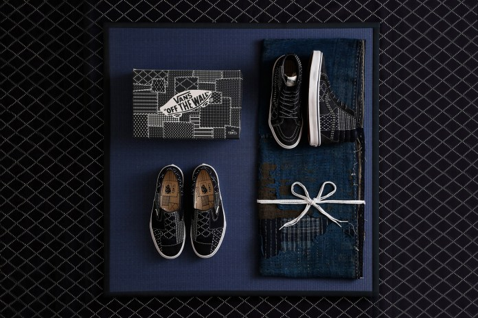 The Latest FDMTL x Vans Collaboration Swathes the Sk8-Hi and Slip-On in Dark Indigo Sashiko Fabric