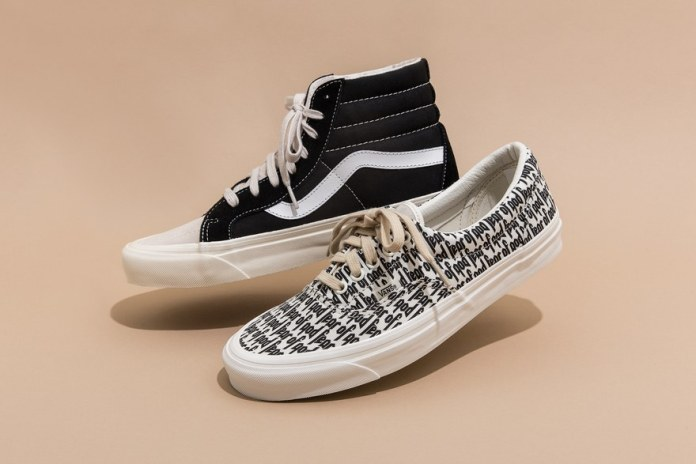 Fear of God's Vans Collaboration Is Here