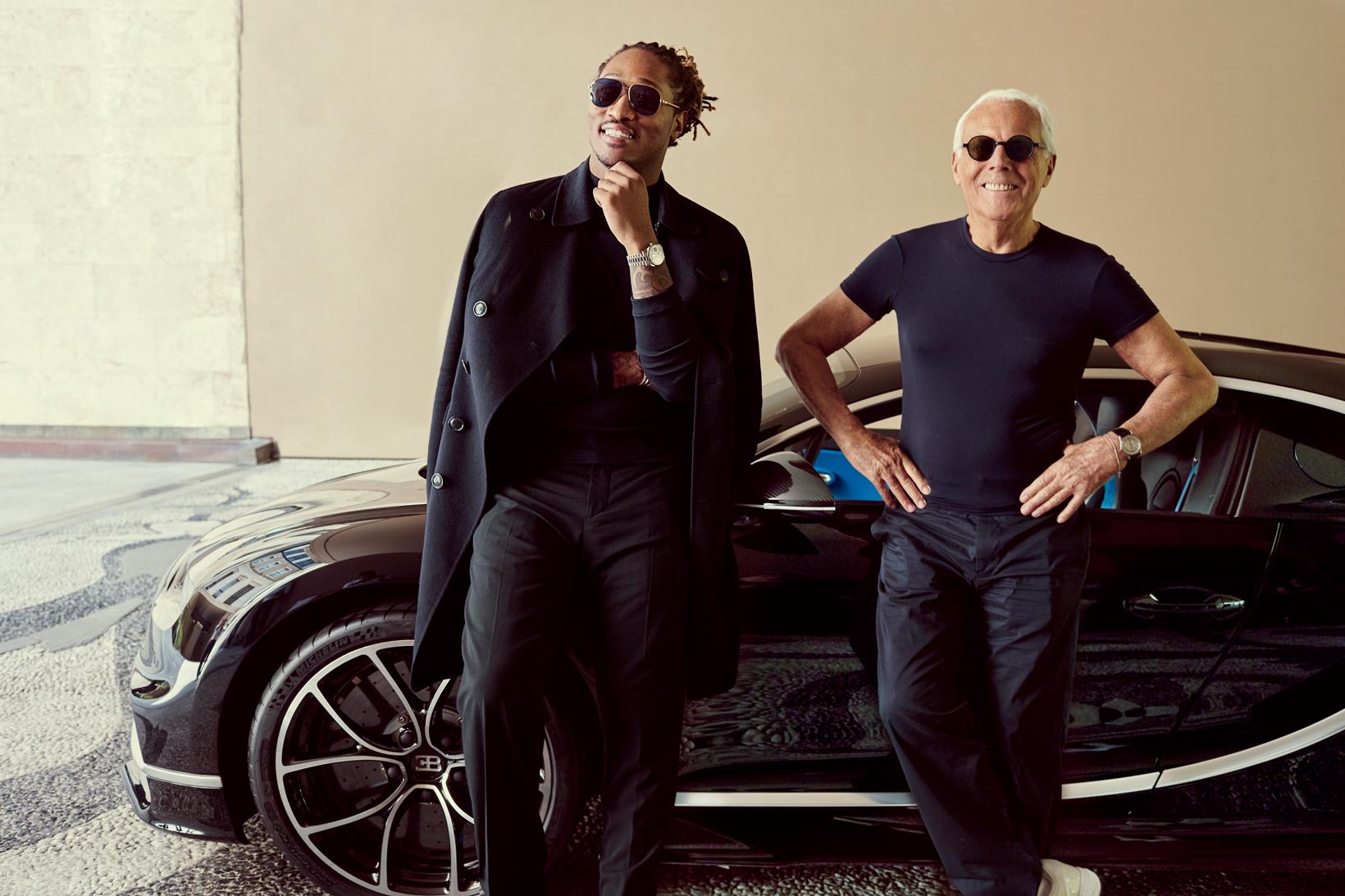 Future Meets Giorgio Armani for the First Time in a Bugatti