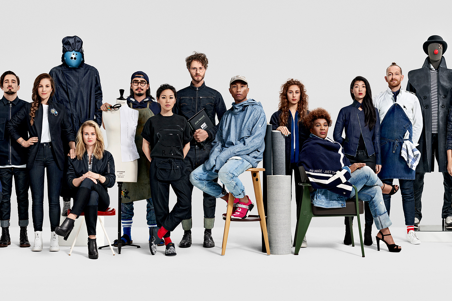 g star raw fall winter 2016 campaign featuring pharrell. Black Bedroom Furniture Sets. Home Design Ideas