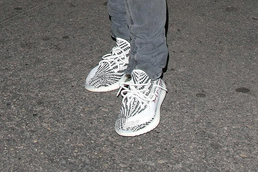 0f7add2c522f5 Cheap Adidas Yeezy 350 V2 Black Green Glow Kanye West Mens For Sale