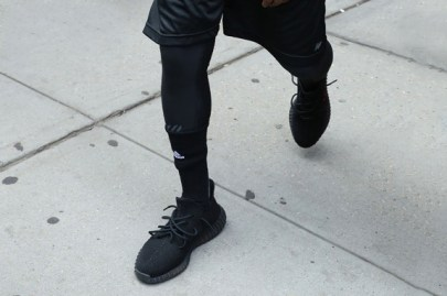 Kanye Wears Unreleased Yeezy Boosts and Saint Pablo Tour Hoodie