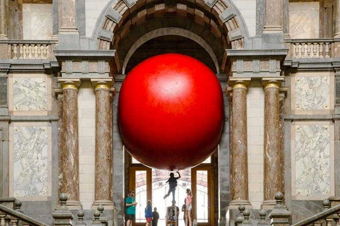 Artist Kurt Perschke's Giant 'RedBall Project' Hits the Streets of Antwerp