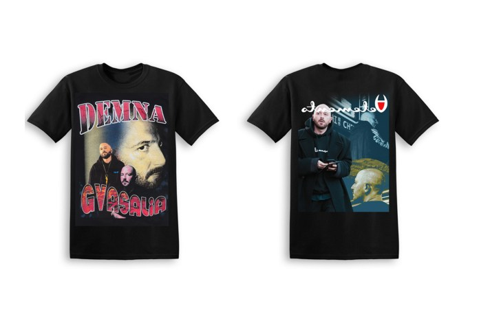 Demna Gvasalia, Gosha Rubchinskiy and More Are Immortalized as Tour Merch T-Shirts