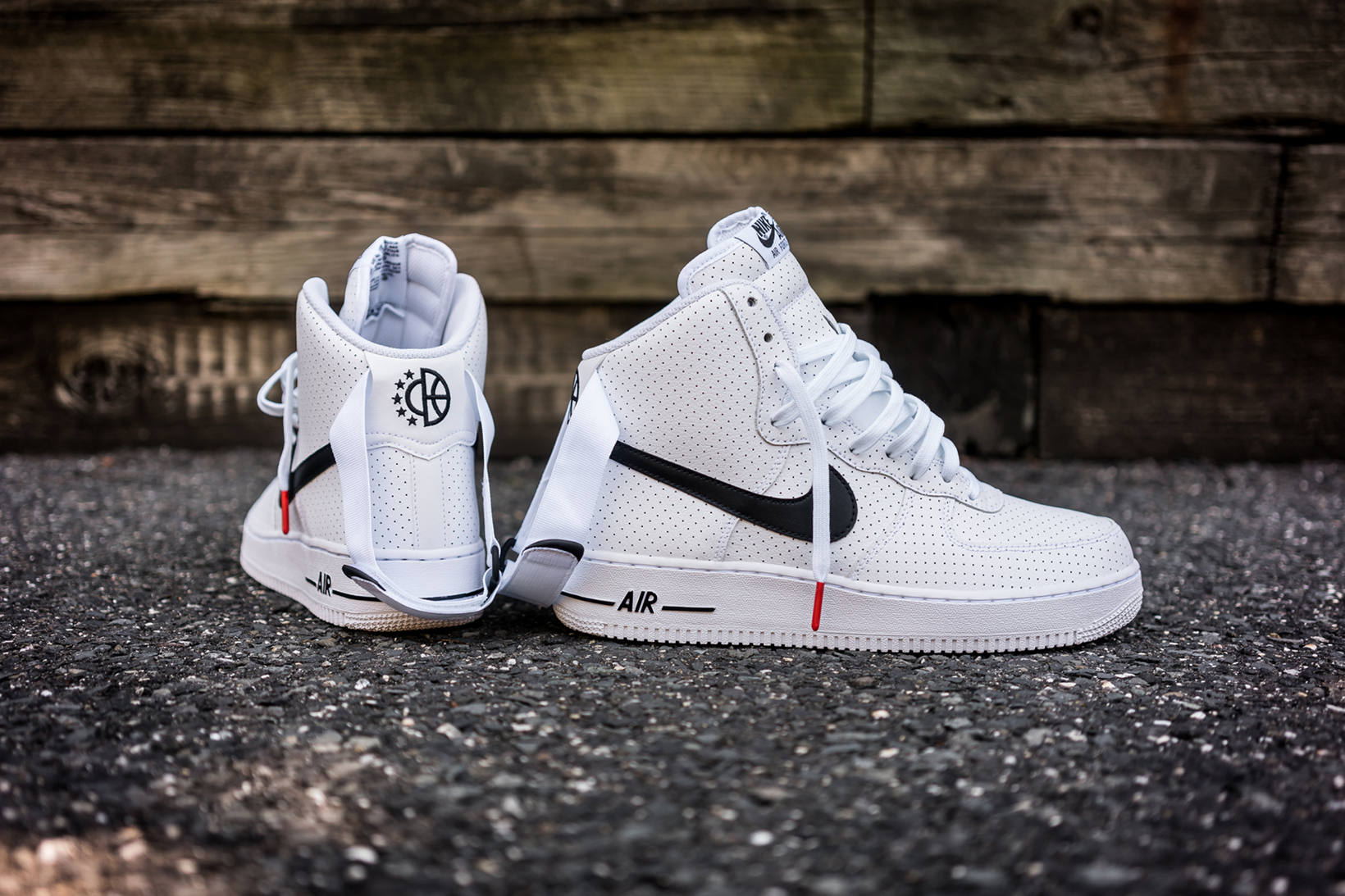nike air force 1 high perf in white black hypebeast. Black Bedroom Furniture Sets. Home Design Ideas
