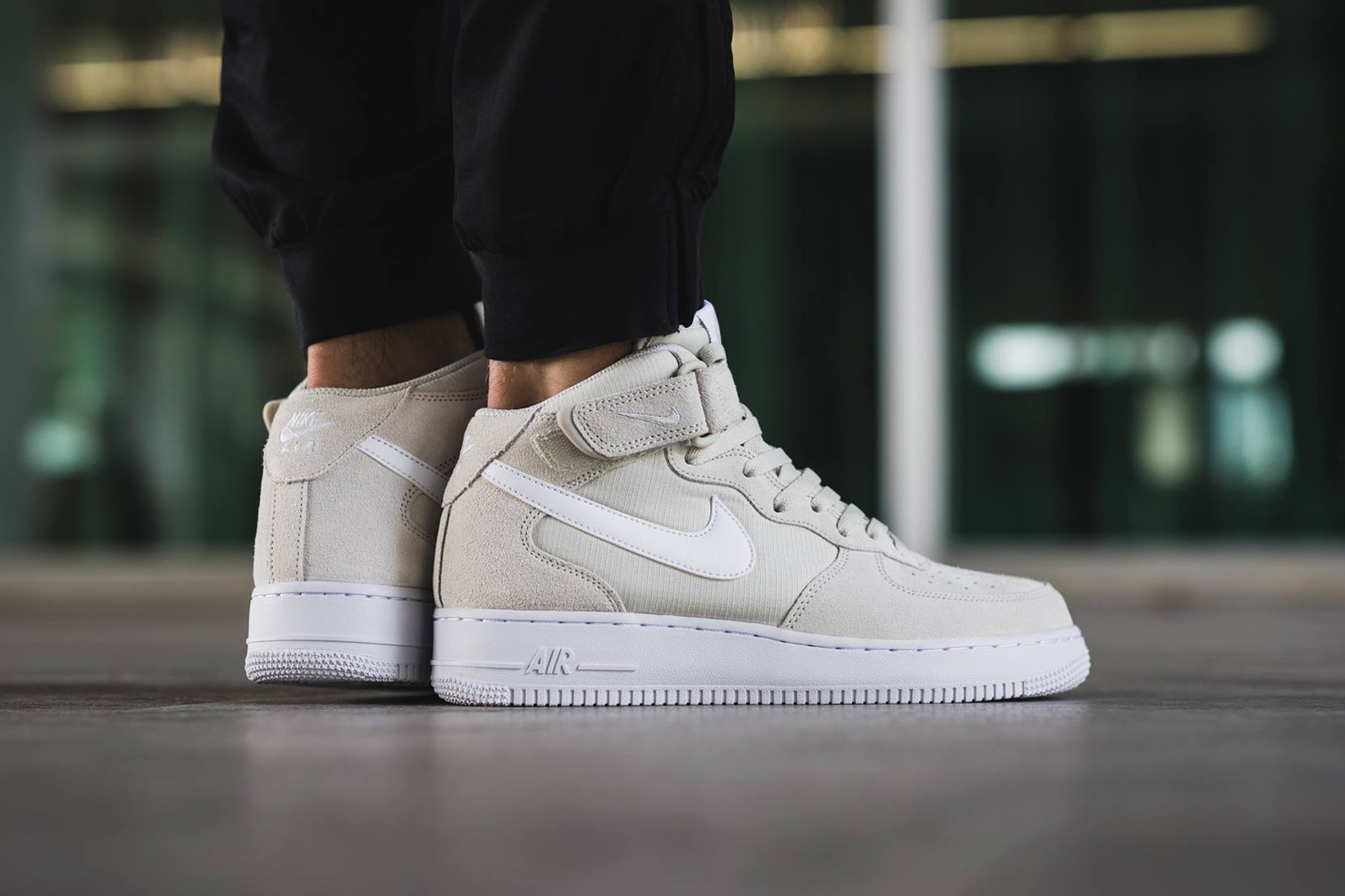 """The Nike Air Force 1 Mid Gets a Clean """"Light Bone"""" Colorway"""