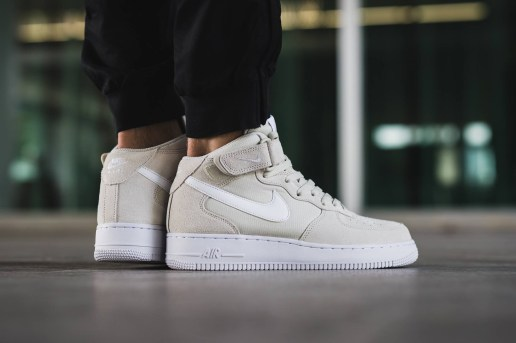 "The Nike Air Force 1 Mid Gets a Clean ""Light Bone"" Colorway"