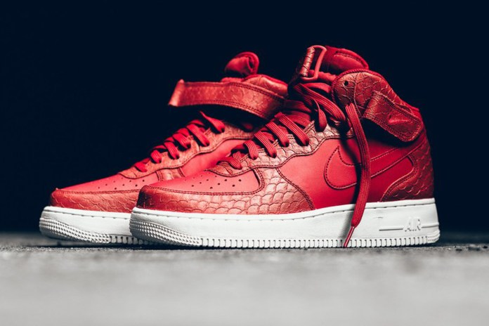 The Nike Air Force 1 Mid Dons a Textured Python Make-Up