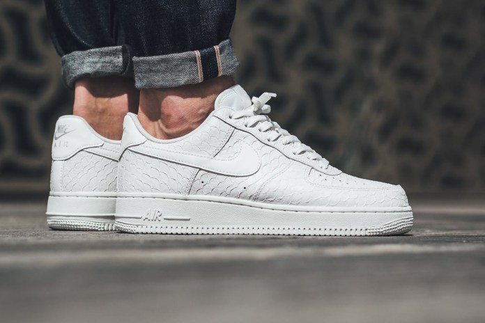 "The Nike Air Force 1 Dons a Textured ""Triple White"" Leather Make-Up"