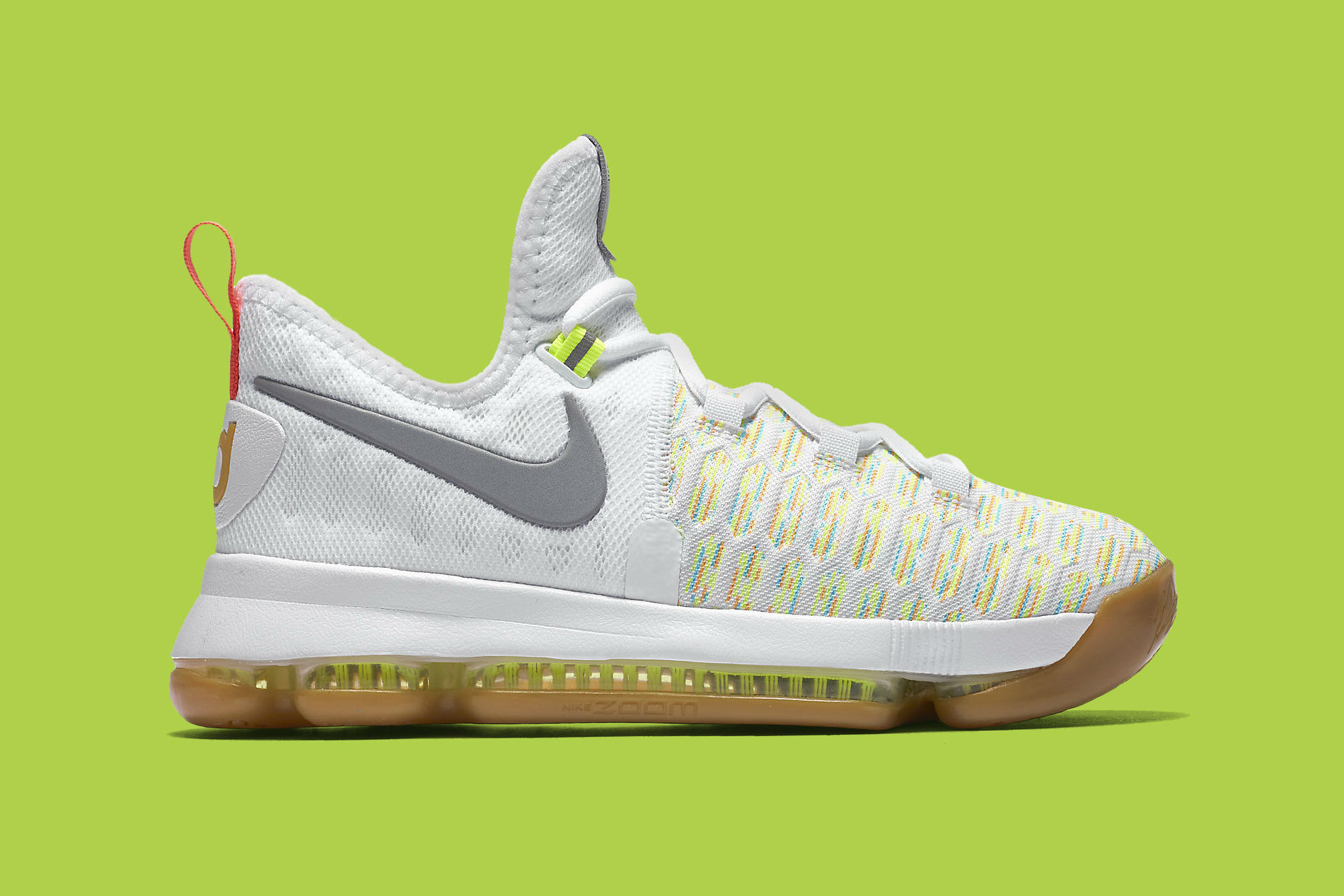 Nike's Multicolored Flyknit Gets Paired With a Gum Sole in This KD9