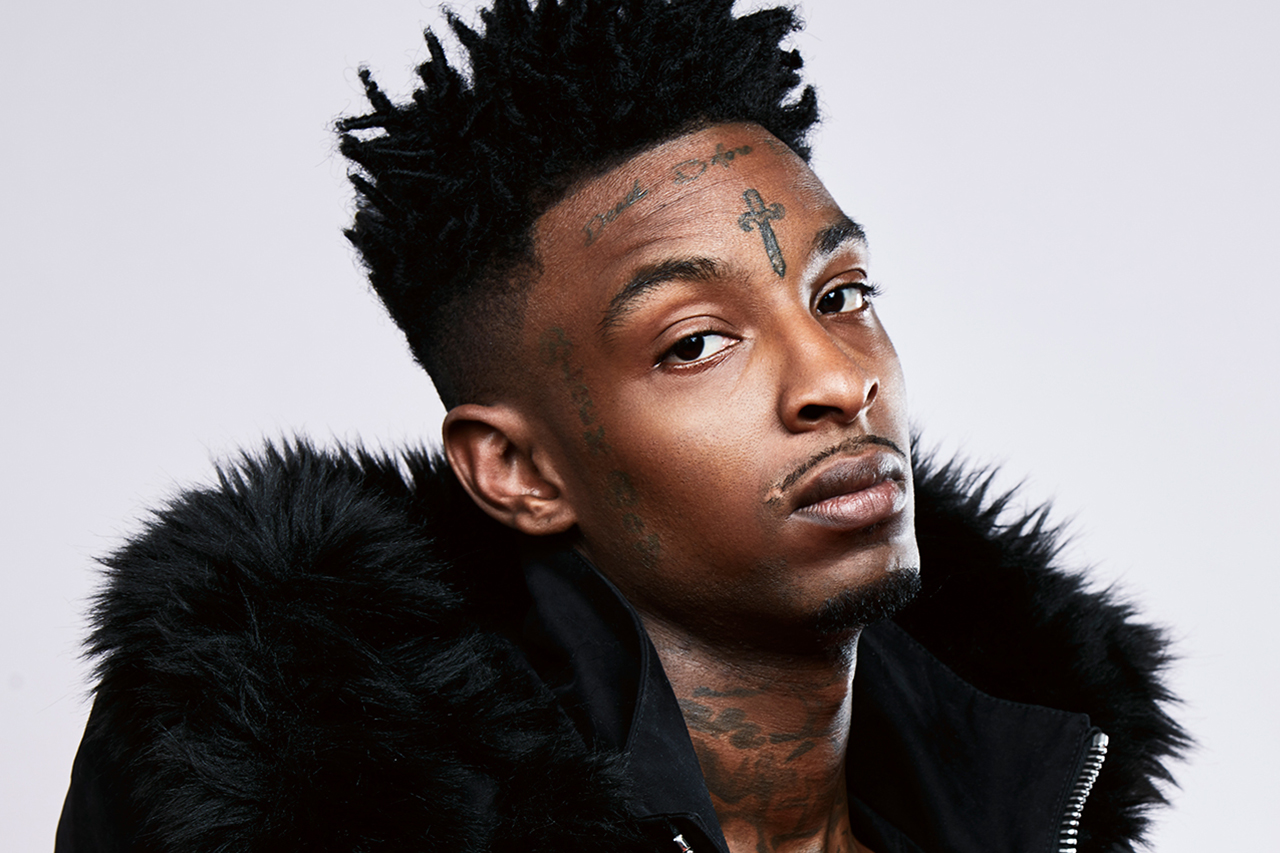 Rapper 21 Savage Models OFF-WHITE's 2016 Fall/Winter Collection