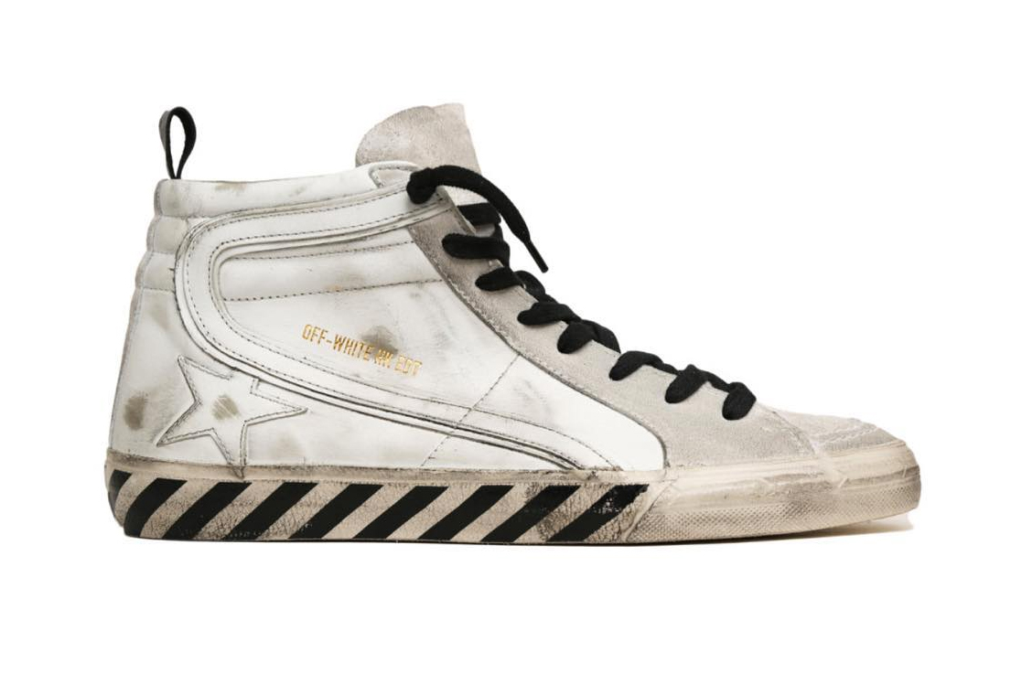 OFF-WHITE & Golden Goose Unveil a Distressed High-Top Sneaker