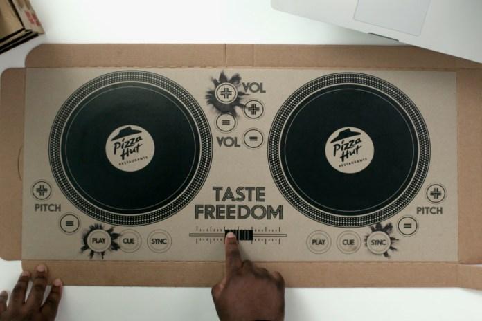 Pizza Hut Introduces the World's First Playable Pizza Box DJ Decks