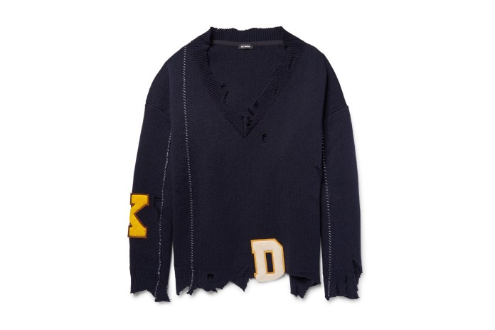 This Raf Simons Oversized Distressed Sweater Has Never Seen Better Days