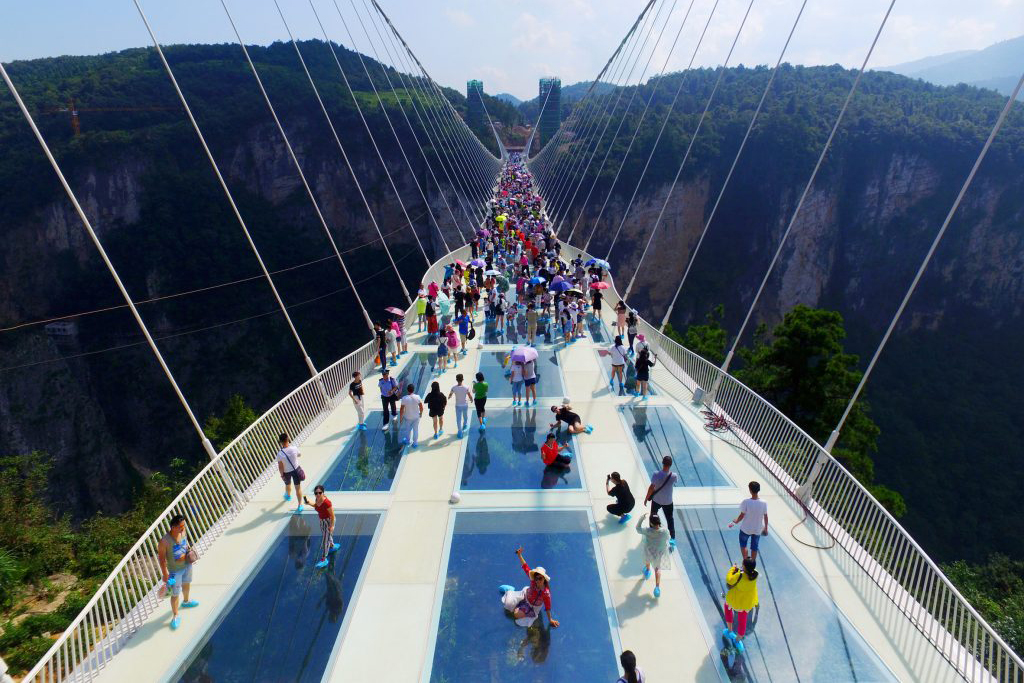 The World's Highest and Longest Glass-Bottom Bridge Is Now Open in China