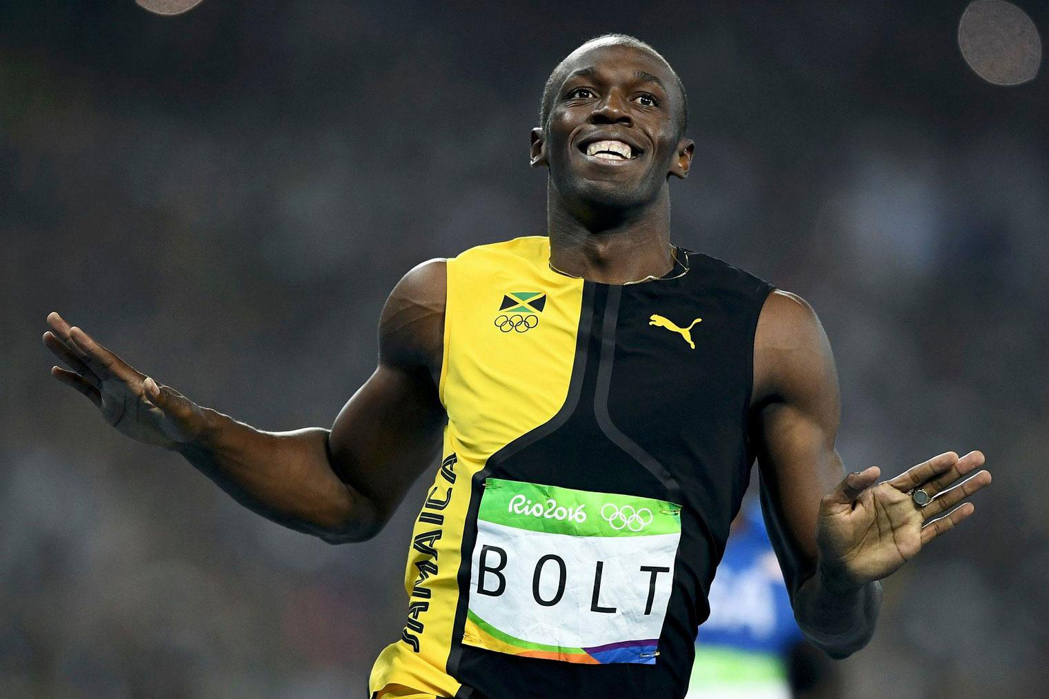 Usain Bolt Wins 100m Final, Winning the Olympic Gold for an Unprecedented Third Time