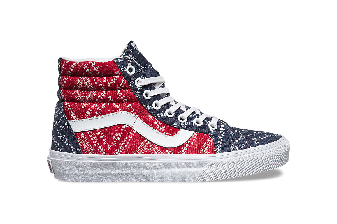 Vans Wraps the Ditsy Bandana Pattern on a Classic Trio