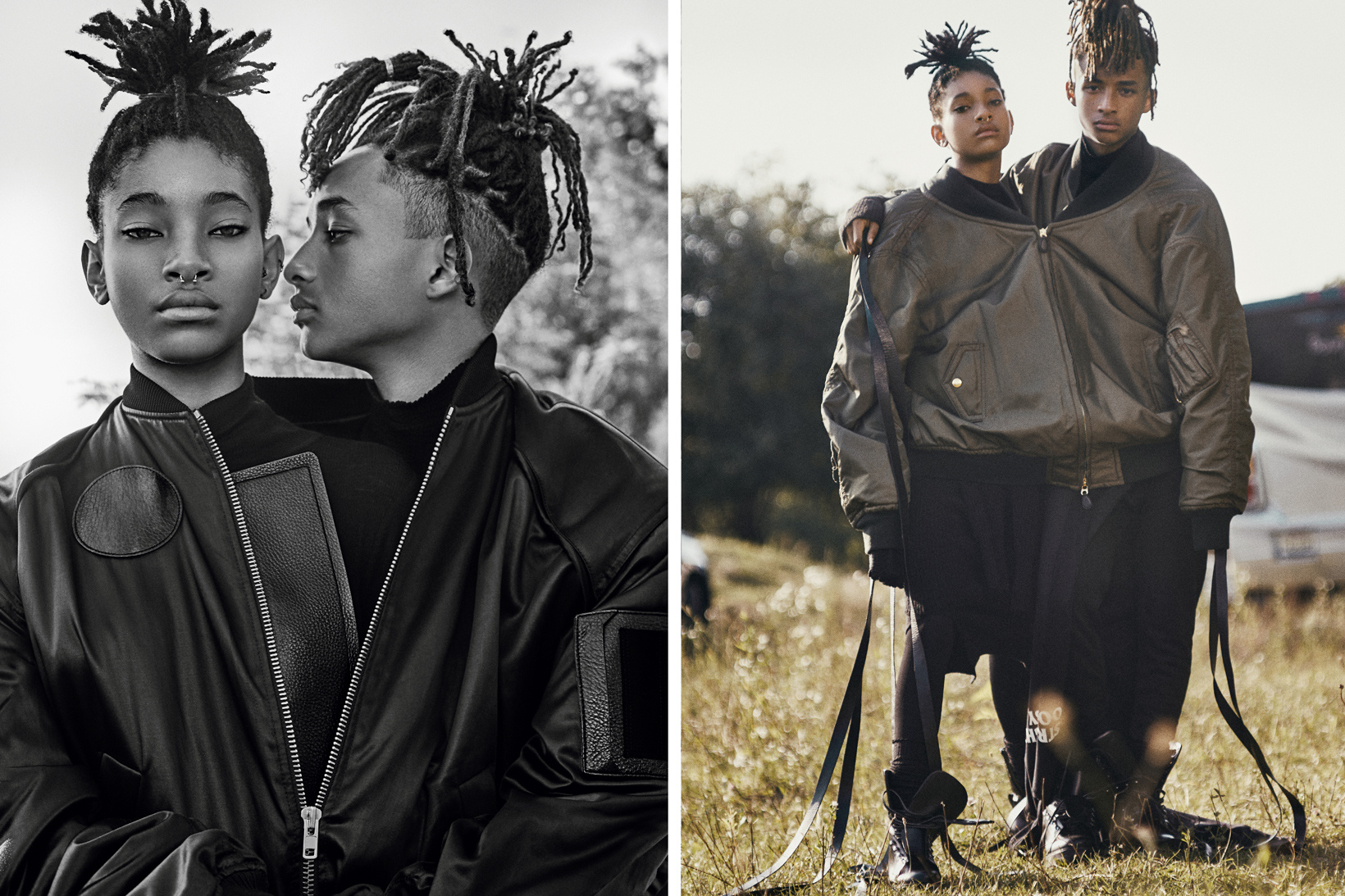 Willow and Jaden Smith Interview Cover Pharrell Williams