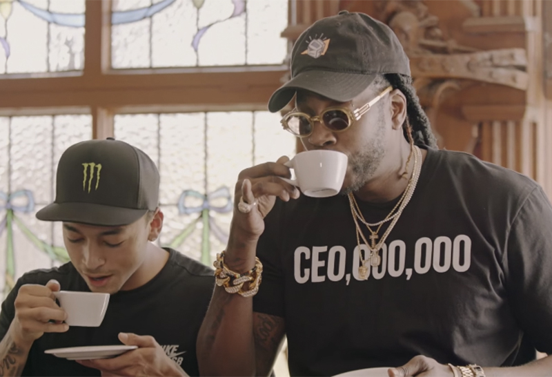 2 Chainz and Nyjah Huston Drink Cat Poop Coffee on 'Most Expensivest S**t'