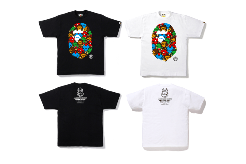 "A Bathing Ape x ""Monster Strike"" Collaboration dinosaurs baby milo nigo black white t-shirt iphone case folders"