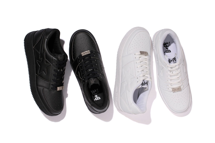 A Bathing Ape's BAPESTAs Are Back With Clean Black and White Leather Renditions