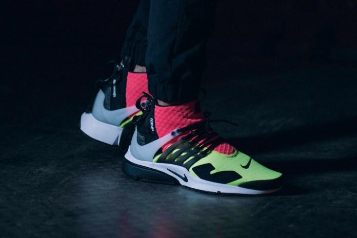 "A Closer Look at the ACRONYM x NikeLab Air Presto Mid ""Neon"""