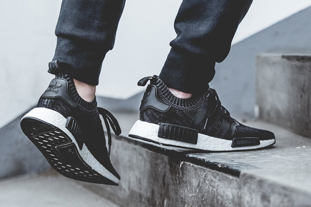 "adidas NMD ""Winter Wool"" Collection Primknit core black triple stripe nmd r1 nmd city sock"