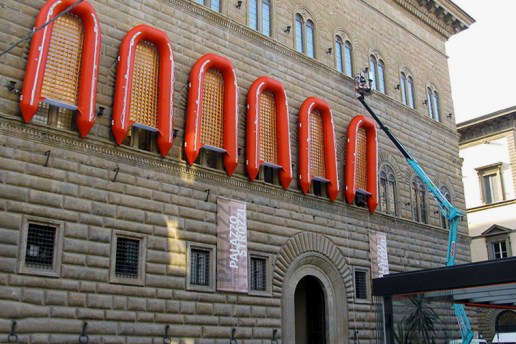Ai Weiwei Straps 22 Rubber Life Boats Onto Florence's Palazzo Strozzi