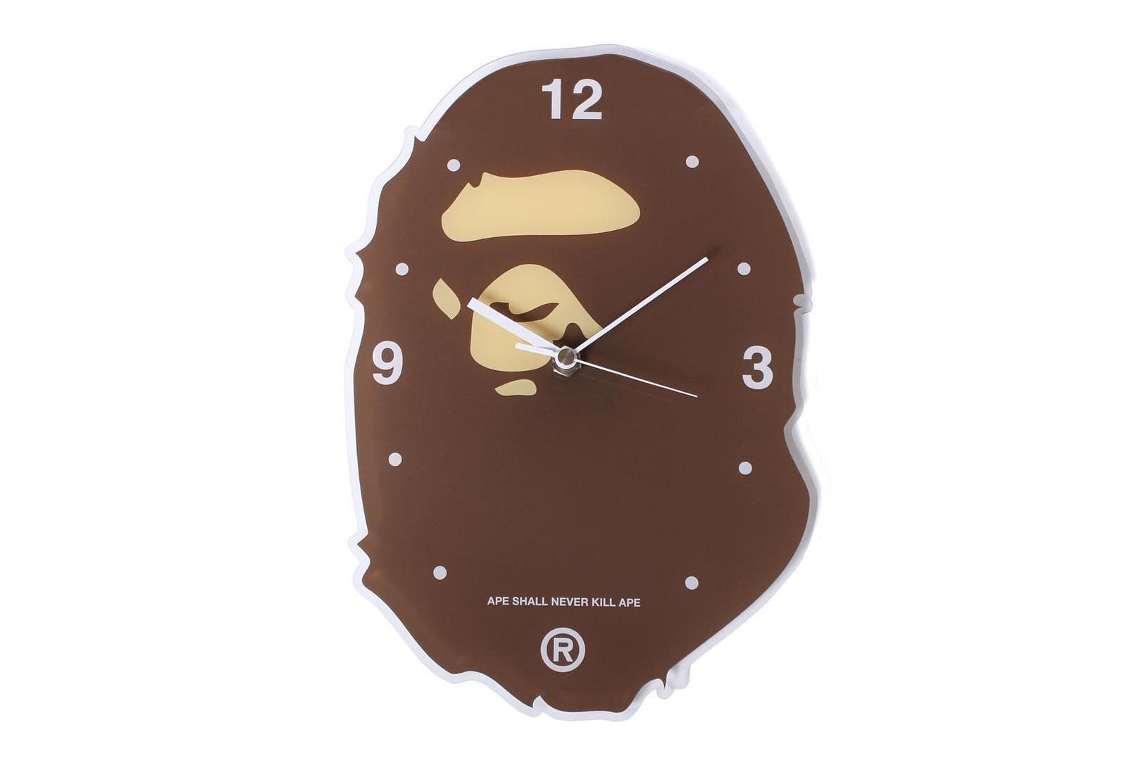 A Bathing Ape Releases an Ape Head Wall Clock