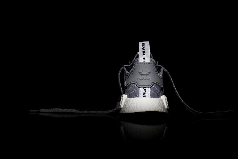 BEDWIN & THE HEARTBREAKERS x adidas NMD R1 grey white stripes