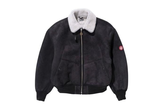 C.E Drops a Luxurious Sheepskin Bomber Jacket