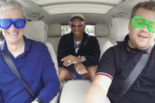 Watch Pharrell and Tim Cook Jam out With James Corden in 'Carpool Karaoke'