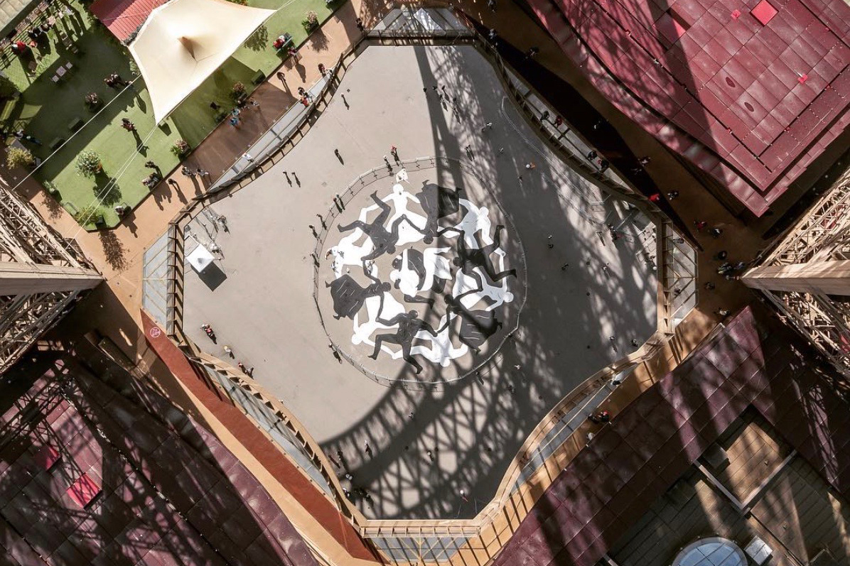 Cleon Peterson Creates the First-Ever Mural to Appear Below the Eiffel Tower