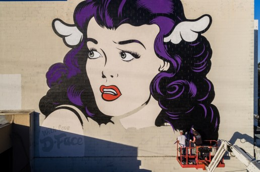 D*Face Leaves His Mark in LA With New Piece, 'Lovestruck'