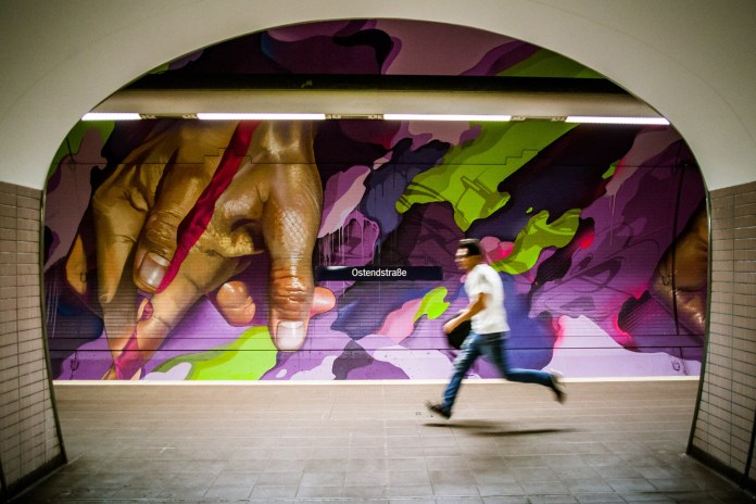 Artists DOES and Case Maclaim Unleash 1,000 Litres of Paint on Frankfurt Metro