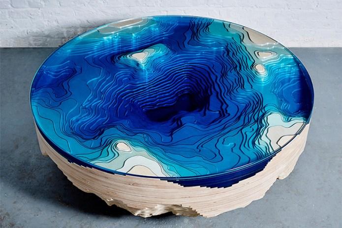 duffy london Creates an Ocean Cross-Section Table