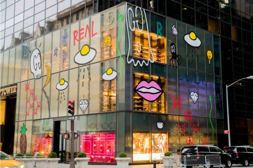 "Gucci's New York Flagship Gets ""Tagged"" by GucciGhost"