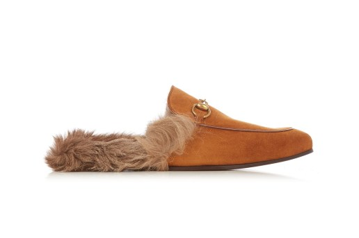 Gucci's Kangaroo Fur-Lined Princetown Slippers Are Now Available in a Tan Suede Colorway