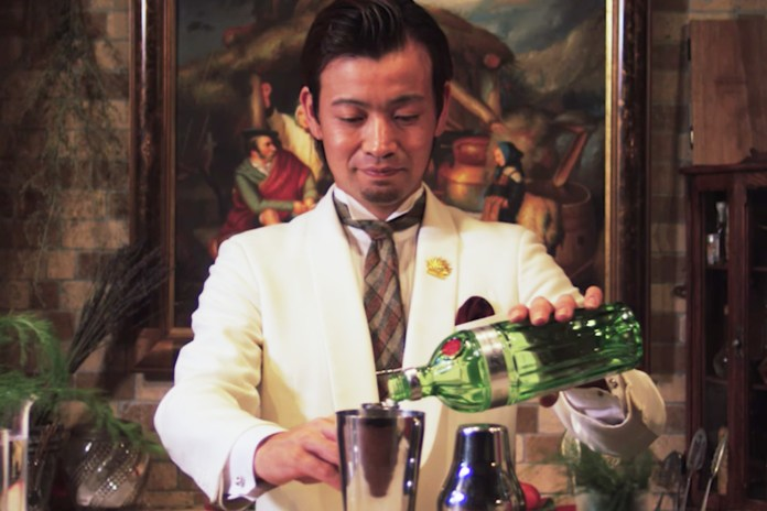 Watch as Japan's Greatest Bartender Makes a Perfect Gin Apple & Fennel Cocktail
