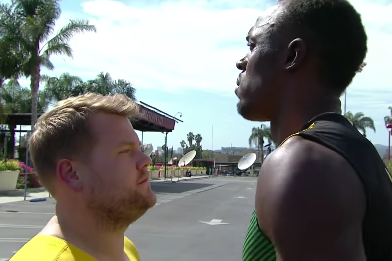 Watch James Corden Try to Outrun the Fastest Man Alive, Usain Bolt